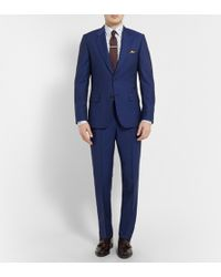 Paul Smith Blue Slim-fit Wool and Mohair-blend Suit - Lyst