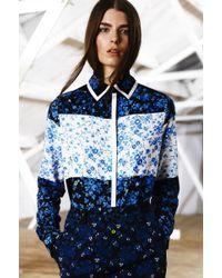 Preen Line Kendal Shirt Blue Flower Patchwork - Lyst