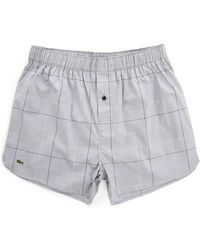 Lacoste Grey Chambray Stretch Cotton Underpants gray - Lyst
