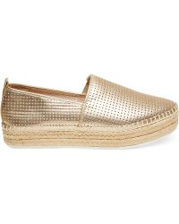 Steve Madden Choppur Perforated Espadrille Flats - Lyst