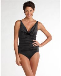 Chanel Cowl Neck Onepiece Swimsuit black - Lyst