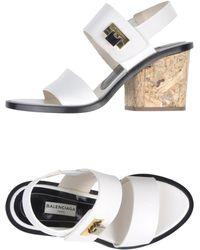 Balenciaga White Sandals - Lyst