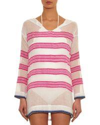 lemlem - Tinish Hooded Stripe Cover-Up - Lyst