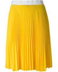 Neil Barrett Pleated Skirt - Lyst