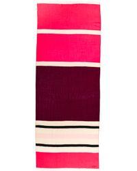 Kate Spade Holiday Textured Stripe Scarf - Chianti Multi - Lyst