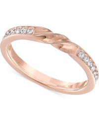 Swarovski - Curly Gold-tone Crystal Ring - Lyst