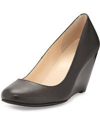 Cole Haan Lainey Lizardprint Leather Wedge - Lyst