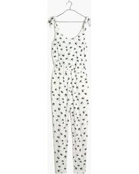 Madewell Summer Shoulder-Tie Jumpsuit In Palm Tree white - Lyst