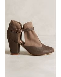 Miss Albright - T-Strap Booties - Lyst