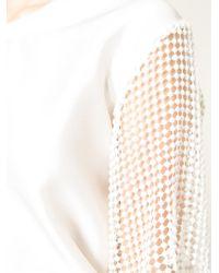 Sharon Wauchob - Mesh Sleeve Blouse - Lyst