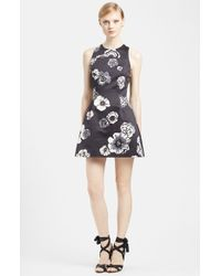 MSGM Floral Print Cotton Dress - Lyst