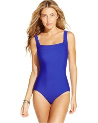 INC International Concepts | Lattice-back One-piece Swimsuit, Only At Macy's | Lyst