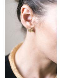 Yoola 14K Gold Spiral Lace Stud Earrings - Lyst