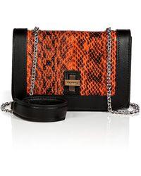 Vionnet Snakeskin Shoulder Bag with Chain Handle - Lyst