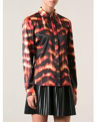 Roberto Cavalli Fire Print Shirt - Lyst