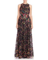Elie Saab | Sleeveless Floral-print Gown | Lyst