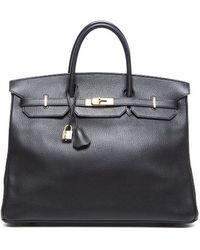 Hermes Preowned Taurillon Clemence Birkin 40 Bag - Lyst