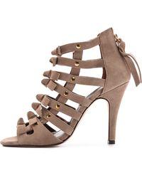 Twelfth Street Cynthia Vincent - Sadie Suede Sandals Taupe - Lyst