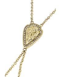 Pamela Love Archer Gold-tone Topaz Finger Bracelet - Lyst