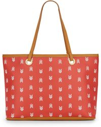 Steve Madden Printed Faux Leather Tote - Lyst