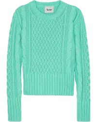 Acne Studios Lia Cable Knit Sweater - Lyst
