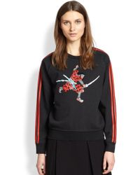 Marc By Marc Jacobs Samurai Printed Cotton Sweatshirt - Lyst