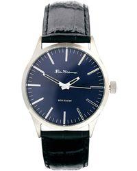 Ben Sherman Blue Dial Leather Strap Watch Bs060 - Lyst