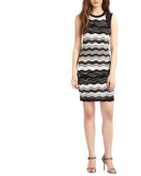 M Missoni Zigzag Stripe Knit Dress - Lyst
