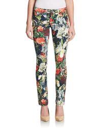Alice + Olivia Floral-Print Skinny Jeans - Lyst