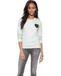 Zoe Karssen Wish You Were Here Sweatshirt - Grey Heather - Lyst