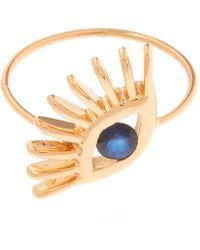 Kismet by Milka - Gold Evil Eye Big Ring - Lyst