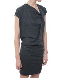 Helmut Lang Twisted Knot Dress gray - Lyst