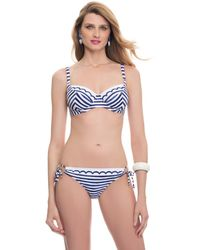 Blush Lingerie - Sail Away Striped Underwire Swim Bra - Lyst