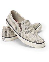 Ralph Lauren Camouflage Mesh Sneaker - Lyst