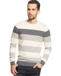 Vince Camuto White Striped Sweater - Lyst