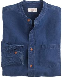 J.Crew Wallace & Barnes Band-Collar Workshirt - Lyst