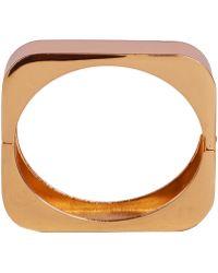 AKIRA - Cubed Gold Bracelet - Lyst