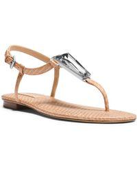 Michael Kors Hanne Embellished Snakeskin Sandal - Lyst