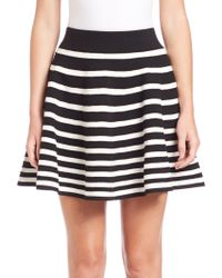 Milly | Engineered Rib Skirt | Lyst