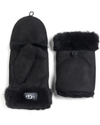 Ugg Convertible Shearling Gloves - Lyst