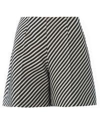 Carven Zigzag Tweed Full Shorts - Lyst
