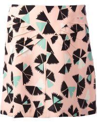 Marc By Marc Jacobs Fan Print Skirt - Lyst