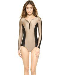 Vix Gold Betsey Bodysuit - Lyst