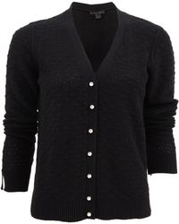 Marc Jacobs Black V-Neck Cardigan - Lyst