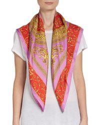 Versace Silk Rococoprint Scarf - Lyst