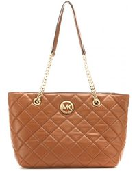 Michael by Michael Kors Susannah Quilted Leather Tote - Lyst