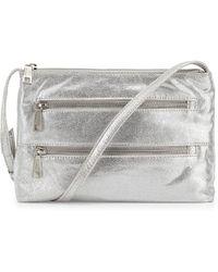 Hobo Mara Metallic Zip Crossbody Bag - Lyst