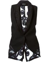 Ann Demeulemeester Semi-sheer Embroidered Waistcoat - Lyst