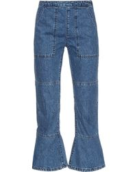 Rachel Comey Flared-hem Mid-rise Denim Jeans - Lyst