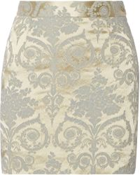 Vivienne Westwood Red Label Floral-Satin Jacquard Mini Skirt - Lyst